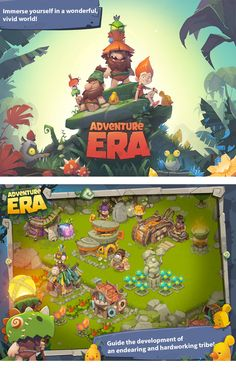 A arte do Mobile Game Adventure Era | THECAB - The Concept Art Blog