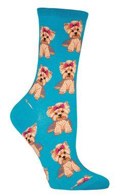Yorkies Socks so cute love them!!