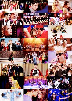 Glee: it's about the love of the music. It's about people like Puck and Artie not just singing together, but actually being friends. And Brittany and Mike, dancing just for fun when no one else is around. Don't let them give up on their dreams, okay? Promise me one thing, don't give up on yours.