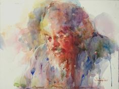 """Contemporary Painting - """"The Lobster Fisherman"""" (Original Art from Fealing Lin Watercolors)"""