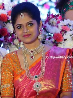 south_indian_bride_diamond_jewellery                                                                                                                                                     More