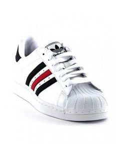 779140d315 Adidas Superstar Mens Red Lace-Up Discount Trainers T-1071 Addidas Shoes  Mens