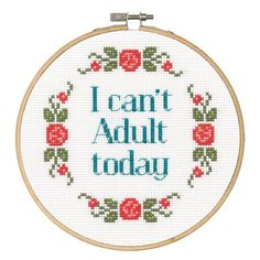 Dimensions® Counted Cross Stitch Kit, Can't Adult