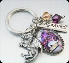 Stainless Steel Key Chain Enchanted Dragon by BlackberryDesigns, $43.00