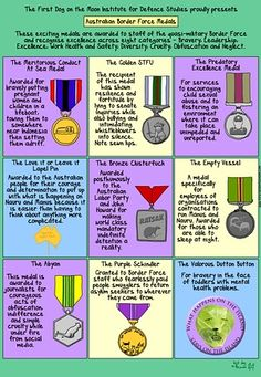 Cartoon on the Border Force Medals.