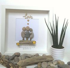 Mothers day gift, Pebble art, gift for her, gift for mom, mom gift, personalized gift, gift from daughter, gift from son, grandma gift, nan by CoastalPebblesShop on Etsy