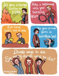 So many dump ways to die~ only in Supernatural