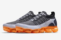 Official Images: Nike Air VaporMax 2 Mango         The Nike Air VaporMax 2 Mango finally drops next week. Are you looking to cop? This new colorway of the Nike Air VaporMax 2 features a clea... https://drwong.live/sneakers/nike-air-vapormax-2-mango-official-images/ Nike Vapormax Flyknit, Nike Air Vapormax, Sneakers Nike, Adidas Originals, Mango, Safari, Kicks, Slippers, Over Knee Socks