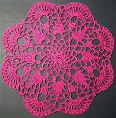 Easy Doily Patterns for Beginners | Crochet Petite Spiral Pineapple Doily Pattern