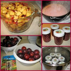 """The Iowa Housewife: Plum Good_This is our very favorite jam, just like my mom made years ago. The recipe is from the """"1972 Ball Blue Book"""", modified to current guidelines. In 1972, I didn't water-bath this jam; I used paraffin to seal the jars. Water-bath processing is a much surer way to save this delicious jam. Check this link for the basics.  I do have to buy plums in season. Red Santa Rosa plums are a good choice.  I try to make 3 or 4 batches of this jam every summer - it goes fast."""