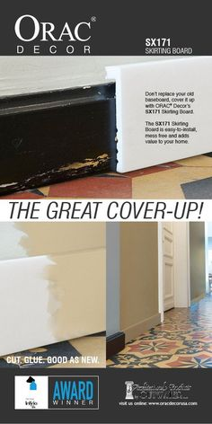 There is no better way to cover up ugly base boards than with Orac Decor's skirting boards, the skirting is easy to install, mess free and will add value to your home Baseboard Molding, Base Moulding, Baseboards, Wainscoting, Flexible Molding, Moulding Profiles, Orac Decor, Skirting Boards, Indirect Lighting