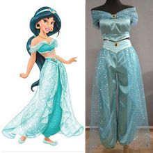 Aladdin Jasmine Princesse cosplay costume Adulte Halloween Costumes pour femmes…