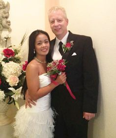 A beautiful Fil-Am couple who met through Cherry Blossoms