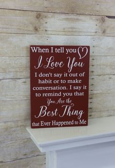 Romantic Anniversary Gift - Anniversary Gift for Him or Her - Valentine's Day - Wood Sign - Birthday for Her or Him - 5th Anniversary - Vday by KyMadeCrafts on Etsy