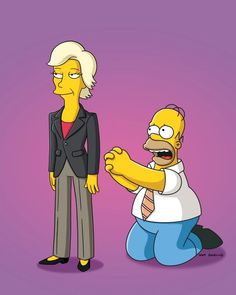 Jane Lynch guest voices on THE SIMPSONS