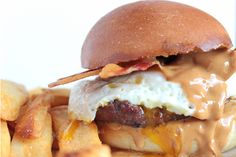 Peanut Butter, Egg, and Bacon Burger | Wholey Angus