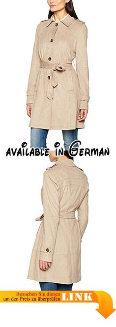 Comma mantel mit abzipbarer kapuze
