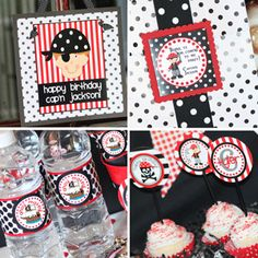 @Erica Cerulo LeidighPirate Party  We could do princess and pirate labels for the water?