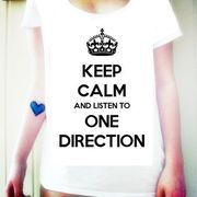 Camiseta Keep Calm And Listen To One Direction