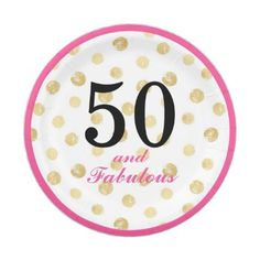 #50 and fabulous party paper plate - #birthday #gift #present #giftidea #idea #gifts