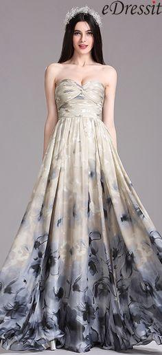 eDressit Printed Pleated Dress