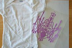 Heat press vinyl on shirts