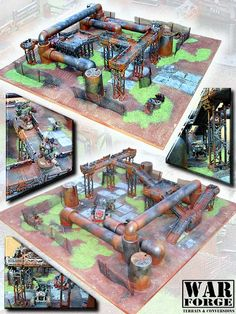 CoolMiniOrNot - Wargaming scenery by WarForge. SF Terrain Table Set no.1 (part 2 of 4) by WarForge