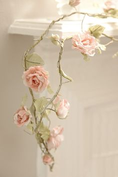 I use flower garlands in my bedroom already, but the white and pink is especially pretty