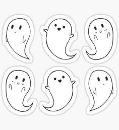 """"""" Stickers by Halloween Doodle, Halloween Drawings, Halloween Stickers, Cute Halloween, Halloween 2020, Halloween Halloween, Printable Stickers, Cute Stickers, Kalender Design"""