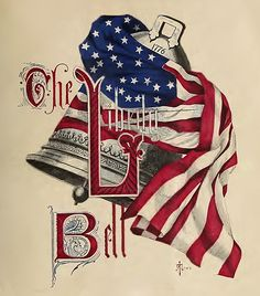 Vintage, patriotic Liberty Bell drawing by the artist John A. The bell in the drawing is not our beloved bell but the symbolism is wonderful. Eagle Sketch, Holiday Images, Holiday Ideas, Creative Words, Memorial Day, Ephemera, Liberty, Red And White, Clip Art