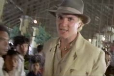 Simon Le Bon with Duran Duran in the Hungry Like A Wolf video (from back in the 80s days...)