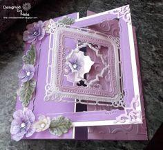Nelasbasteleien: Blütenkarte in Lila