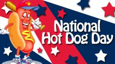 Today is National Hot Dog Day - a summer time favorite, did you know that Americans consumer almost 7 billion hot dogs between Memorial Day and Labor Day Hot Dog Relish Recipe, National Hotdog Day, Fried Hot Dogs, Military Holidays, Bacon Donut, Chicken Patties, Chicago, Hot Dog Recipes, National Holidays