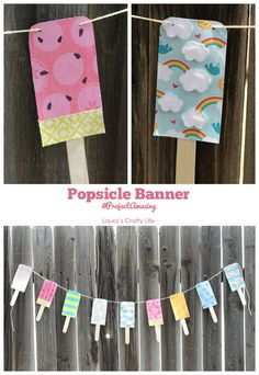 Make this popsicle banner using @scotchbrand  products from Walmart - Laura's Crafty Life  #ProjectAmazing
