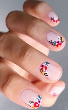 10 Amazing Spring Nail Art Designs That You Should Try Asap Nail Art Designs, Nail Designs Spring, Spring Nail Art, Spring Nails, Cute Nails, Pretty Nails, Hair And Nails, My Nails, Finger