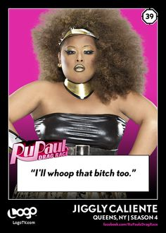 RuPaul's Drag Race TRADING CARD THURSDAY #39: Jiggly Caliente
