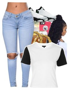 """""""#Nee"""" by trillest-kid ❤ liked on Polyvore featuring Retrò and Topshop"""