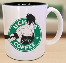 Sasuke Uchiha Starbucks Anime Manga Cartoon by EternalRivalDesigns