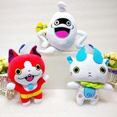 3pcs/lot New 20cm Anime Cartoon Yo-Kai Watch Whisper Jibanyan Komasan Cat Kawaii Plush Toys Soft Stuffed Dolls Kid Toys