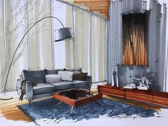 "1,750 Likes, 11 Comments - Daniel Wikström (@zasstdesign) on Instagram: ""Enjoying a Friday night at home! . . . #archisketcher #architecture #archilovers #archidaily…"""