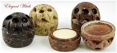 Patchouli Solid Perfume in Carved Soapstone Pot Wiccan Ritual Wear Supplies