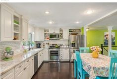 Eclectic Kitchen with Daltile - rittenhouse square arctic white 3 in. x 6 in. ceramic modular wall tile, Raised panel, Flush