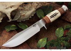 KnivesShipFree - Bark River Knives: Special Hunting Knife - Hidden Tang - Leather
