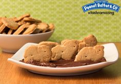 Animal Crackers with Dark Chocolate Dreams Peanut Butter #tasteamazing
