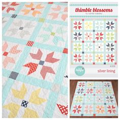 And one more of Silver Lining. What is it about stars? I can't get enough of them! #silverliningquilt #thimbleblossoms #bcbasicsfabric