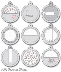 My Favorite Things - Die-namics - Tag Builder Blueprints 6 Scrapbook Sketches, Card Sketches, Scrapbook Cards, Scrapbook Designs, Scrapbooking Ideas, Card Tags, Gift Tags, Handmade Tags, Mft Stamps