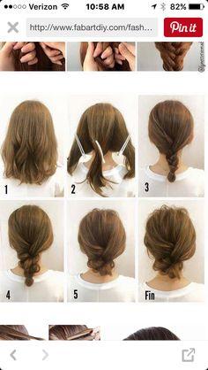 Medium Hair Hairstyles Updos For Medium Hairgotta Really Love This One Medium Length