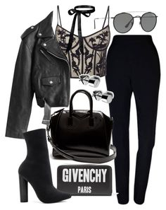 """""""Untitled #21433"""" by florencia95 ❤ liked on Polyvore featuring Plakinger, Alexander McQueen, Givenchy, Jean-Paul Gaultier, Ray-Ban and Steve Madden"""