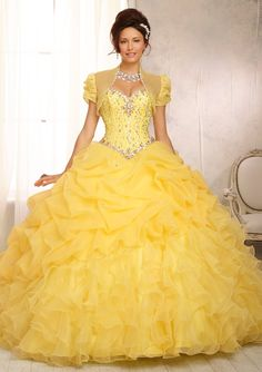 Quinceanera Gowns Style 88083: 88083 Crystal Beaded Bodice on a Ruffled Organza Skirt http://www.morilee.com/quinceanera/quinceanera_vizcaya/88083