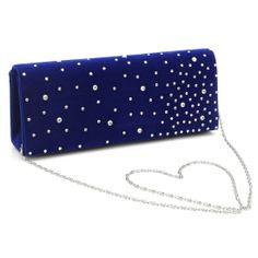 Φάκελοι-τσάντες με στρας σε μπλε [Blue clutch bag in rhinestones]